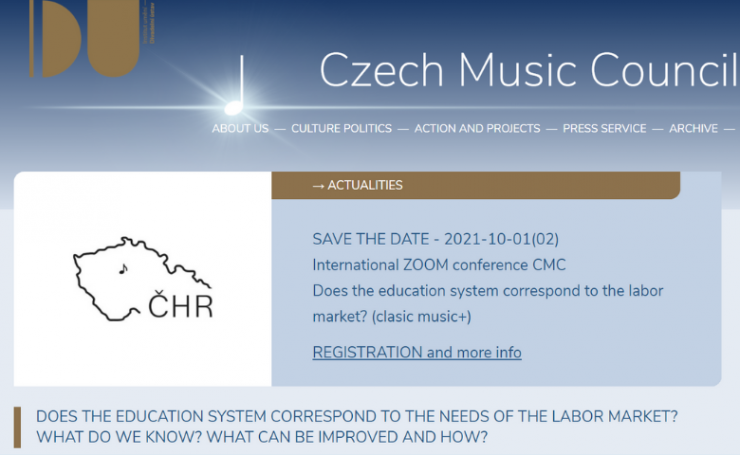 International Online Conference organised by the Czech Music Council and HAMU